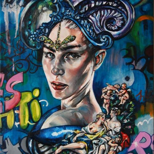'Spirit of Aphelea'_oil on canvas_Gavin Brown_61cm x76cm_2012