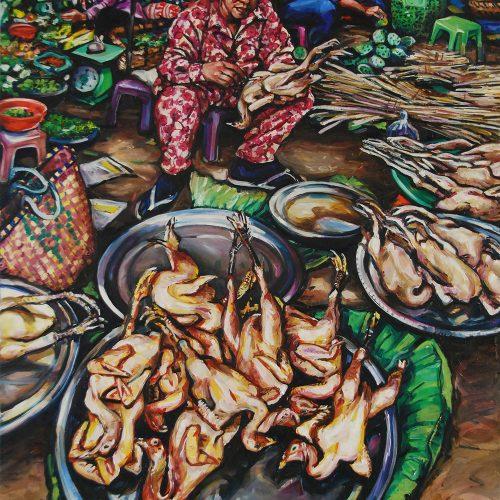Chicken Lady_910 X 1220_2016_Gavin Brown_Oil on Canvas