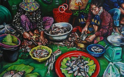 Fish Mongers_1220 X 910_2016_Gavin Brown_Oil on Canvas