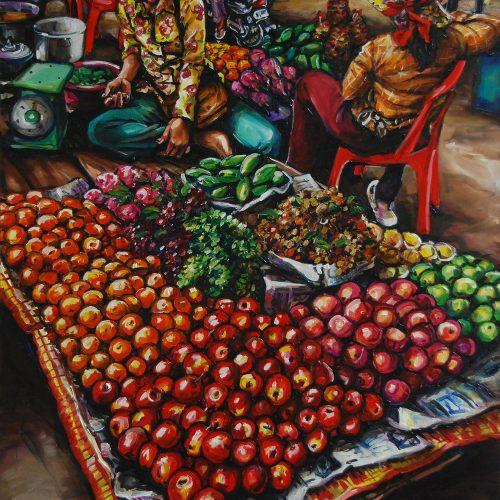 Fruit Stall_910 X 1220_2016_Gavin Brown_Oil on Canvas