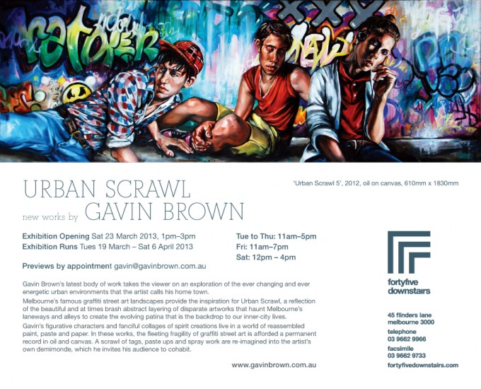 Urban Scrawl exhibition – March 2013