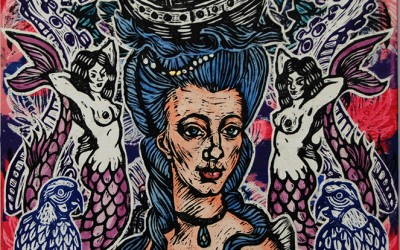 Madame de Mer.76 X 51.Ink&Oil on Canvas.2015.gavin Brown
