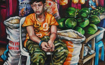Market Boy_910 X 1220_2016_Gavin Brown_Oil on Canvas