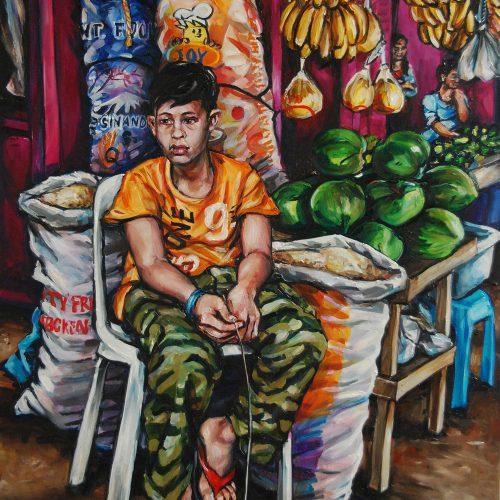 Market Boy_910 X 1220_2016_Gavin Brown_Oil on Canvas