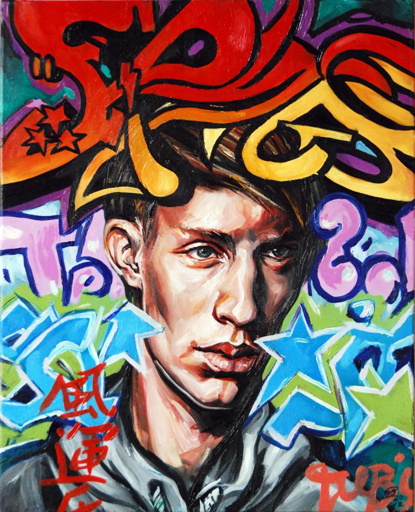 Mash #4 Oil on Canvas. 2012. 40cm X 51cm. Gavin Brown