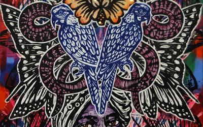 Raj.76 X 51.2014.Ink&Oil on Canvas.Gavin Brown
