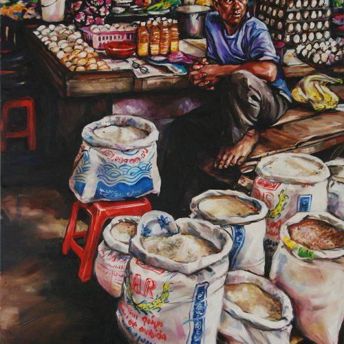 Rice Seller_910 X 1220_2016_Gavin Brown_Oil on Canvas
