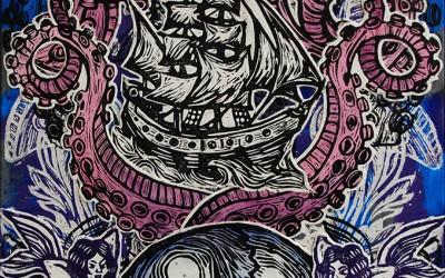 Sailors Arm.76 X 51.2015.Ink&oil on canvas.Gavin Brown