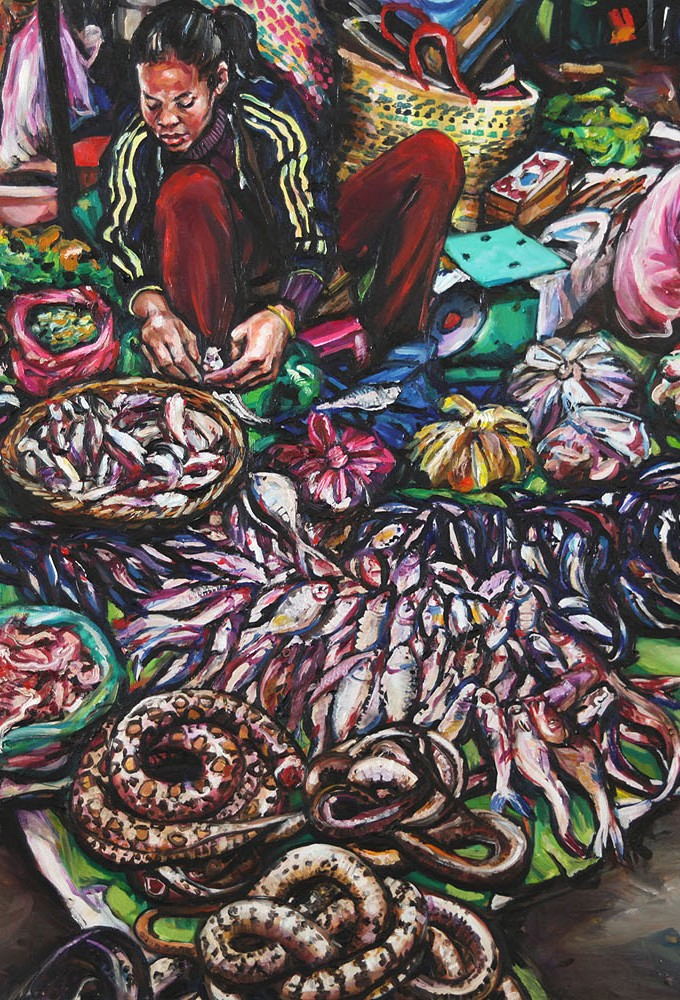 Snake Seller_1220 X 910_2016_Gavin Brown_Oil on Canvas