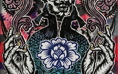 Sorcerer.76 X 51.2015.Ink&Oil on Canvas.Gavin Brown
