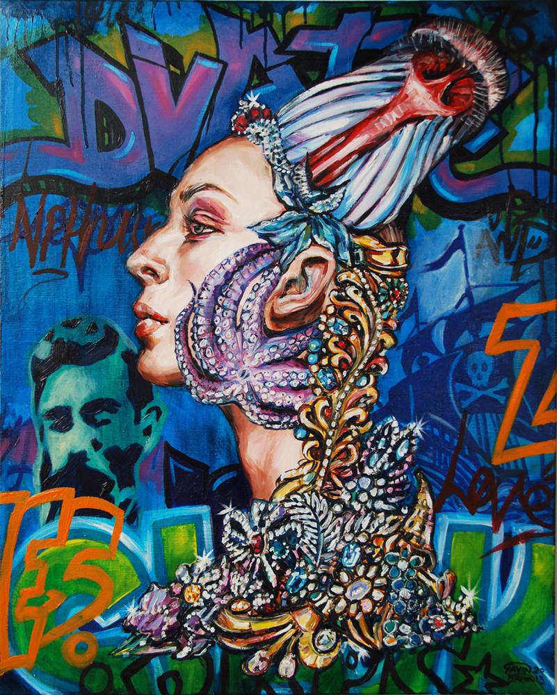Spirit of Nemesis. Oil on Canvas. 2013. 61cm X 76cm. Gavin Brown