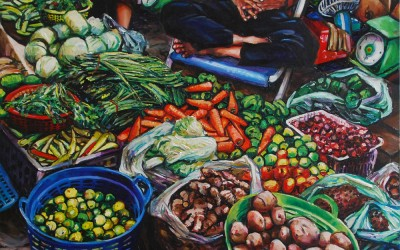 Vegetable Seller Sleeping_1220 X 1520_2016_Gavin Brown_oil on Canvas