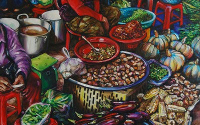 Vegetable Seller in Red_1220 X 1520_2016_Gavin Brown_Oil on Canvas