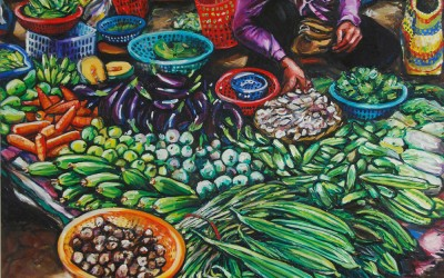 Vegetable Seller_1220 X 1520_2016_Gavin Brown_Oil on Canvas