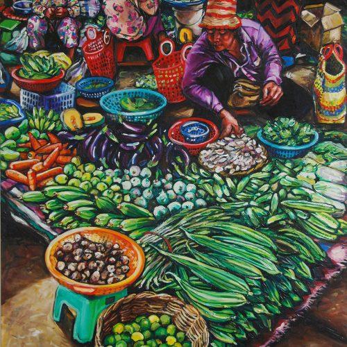Vegetable Seller_1220 X 1520_2016_Gavin Brown_Oil on Canvas