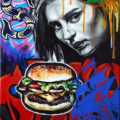 Mash #10 Oil on Canvas. 2012. 40cm X 51cm. Gavin Brown.