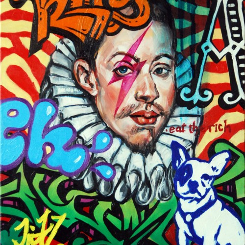 Mash #13 Oil on Canvas. 2012. 40cm X 51cm. Gavin Brown.