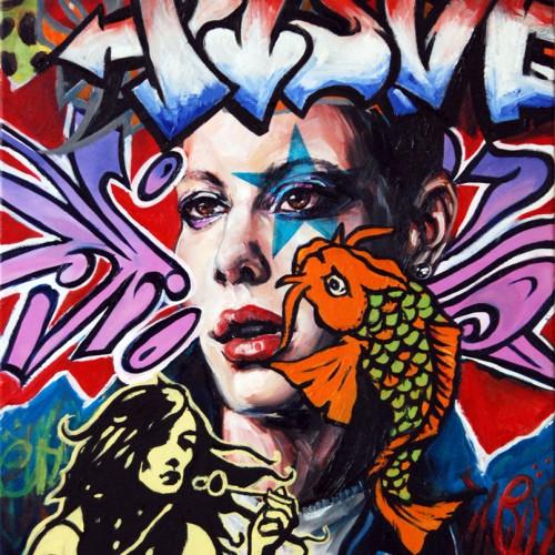 Mash #5 Oil on Canvas. 2012. 40cm X 51cm. Gavin Brown.