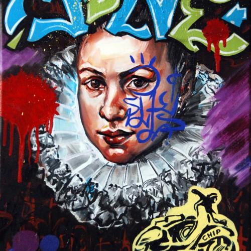 Mash #6 Oil on Canvas. 2012. 40cm X 51cm. Gavin Brown.