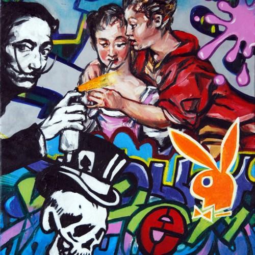 Mash #7 Oil on Canvas. 2012. 40cm X 51cm. Gavin Brown