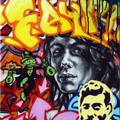 Mash # 8 Oil on Canvas. 2012. 40cm X 51cm. Gavin Brown