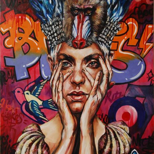 Spirit of Thrasos. Oil on Canvas. 2013. 61cm X 76cm. Gavin Brown.