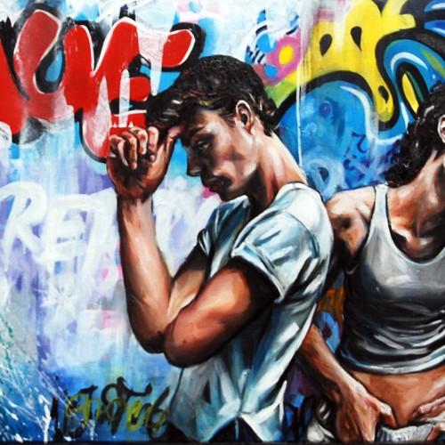 Urban Scrawl #2 Oil on Canvas. 2012. 61cm X 183cm. Gavin Brown
