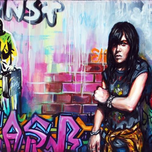 Urban Scrawl #4 Oil on Canvas. 2012. 61cm X 183cm. Gavin Brownd