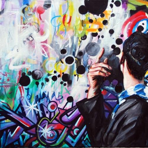 Urban Scrawl #6 Oil on Canvas. 2012. 61cm X 183cm. Gavin Brownd