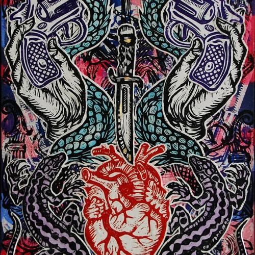 Heart-Dagger.76-X-51.2015.InkOil-on-Canvas.Gavin-Brown