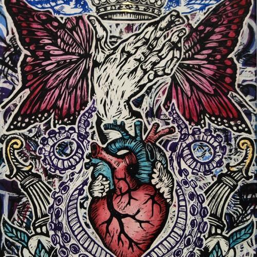 Heart.76-X-51.-2014.InkOil-on-canvas.Gavin-Brown
