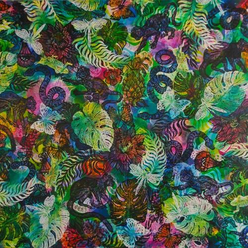 Monsterias-Monkeys.-Ink-Acrylic-on-Canvas.-2015.-Gavin-Brown.153-X-138