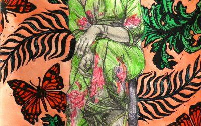 Girl in Flower Dress_drawing_56cmx76cm.JPG
